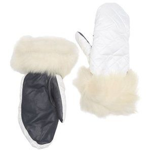 UGG | Quilted Genuine Shearling Trim Mittens NWT